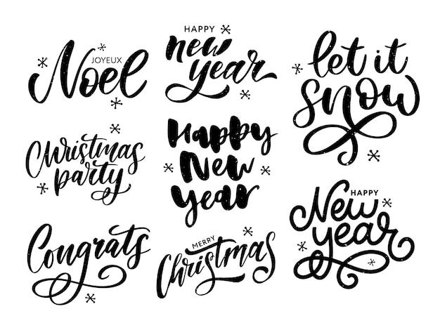 Weihnachten, neujahr, winterplakat. weihnachtsgruß-konzept. druckdesign-vektor-illustration.