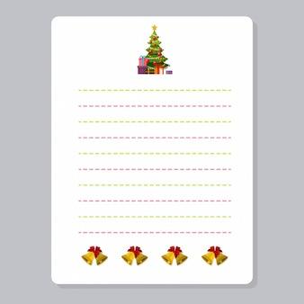 Weihnachten-notizbuchseite