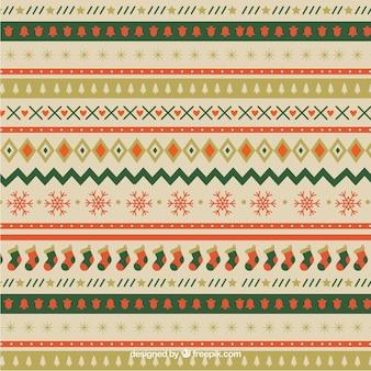 Weihnachten ornamentalen muster