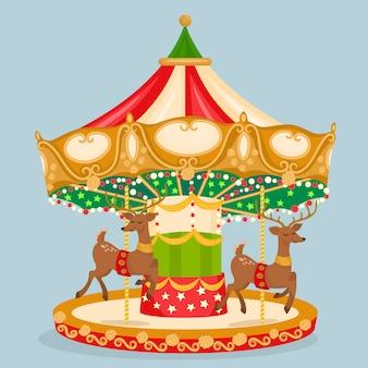 Weihnachten, pferdekarussell