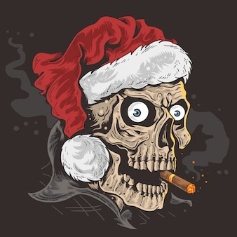 Weihnachten santa claus schädel