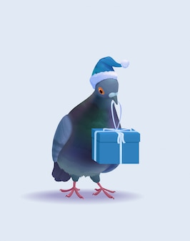 Weihnachten santa pigeon