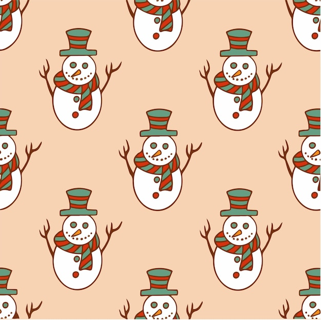 Weihnachten schneemann muster hintergrund social media post weihnachtsdekoration vektor illustration