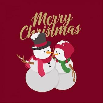 Weihnachten schneemann paar