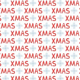Weihnachten schriftzug textmuster weihnachten. hintergrund des neuen jahres frohe weihnachten. vektorillustration in rot-weiß-tönen für die geschenkverpackung