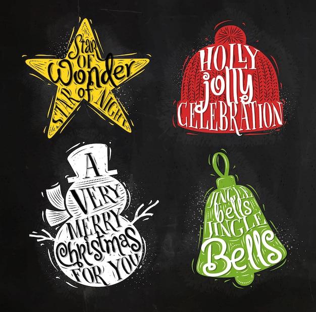 Weihnachten silhouetten schneemann