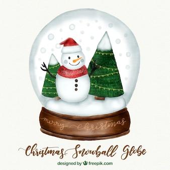 Weihnachten snowglobe hintergrund