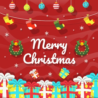 Weihnachten social media hintergrund instagram banner post design