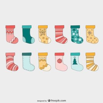 Weihnachten socken einpacken