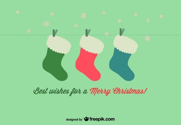 Weihnachten socken-karte