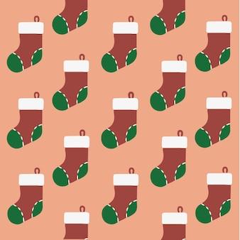 Weihnachten sockenmuster hintergrund social media post weihnachten vektor illustration