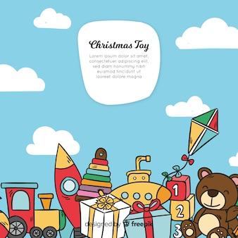 Weihnachten spielzeug hintergrund