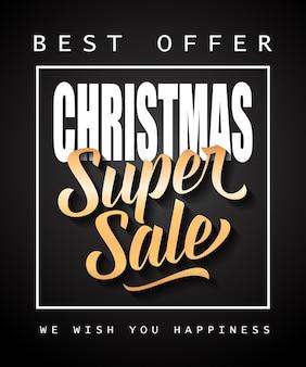 Weihnachten super sale schriftzug