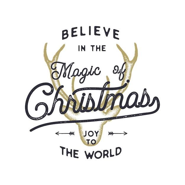 Weihnachten typografie zitat illustration