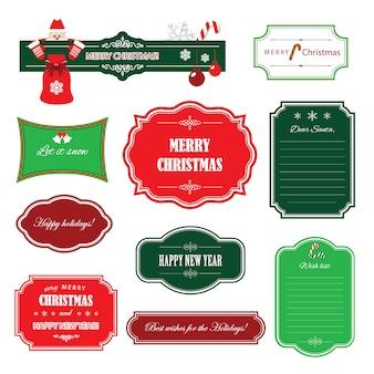 Weihnachten und ein frohes neues jahr rahmen und banner.