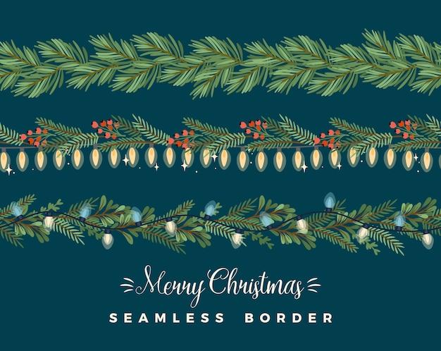 Weihnachten und frohes neues jahr nahtlose grenzen.