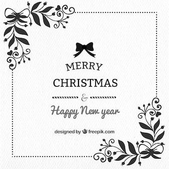 Weihnachten und neujahr elegant hintergrund