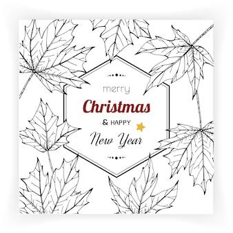 Weihnachten und neujahr hintergründe und grußkarte.