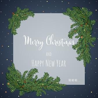 Weihnachten und neujahr hintergrund-grußkarte. vektor-illustration