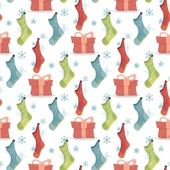 Weihnachten und neujahr hintergrund weihnachtsstrümpfe