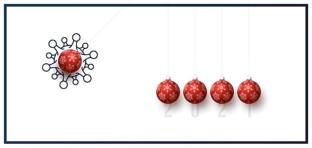 Weihnachten und neujahr illustration