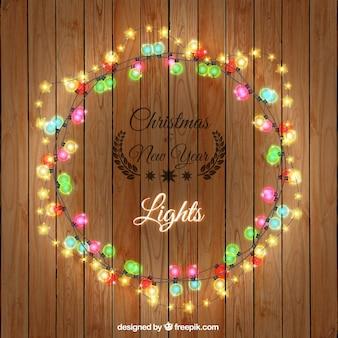 Weihnachten und neujahr-leuchten
