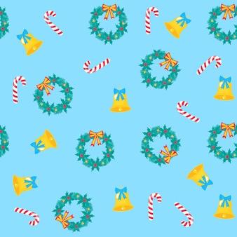 Weihnachten und neujahr nahtlose muster, digitales papier.