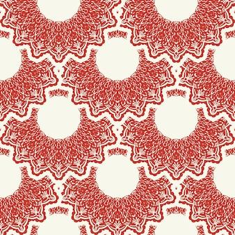 Weihnachten und neujahr nahtlose muster. rot-weißes fair-isle-pixelmuster in rot-weiß mit nordischen schneeflocken für wintermütze, hässliche pullover, pullover oder andere designs.