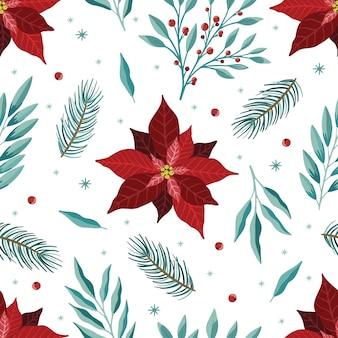 Weihnachten und neujahr nahtlose muster, vektor-weihnachten-hintergrund