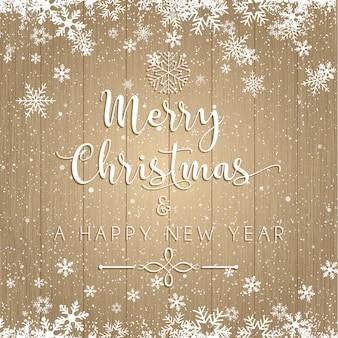 Weihnachten und neujahr text auf hölzernen hintergrund