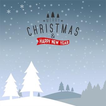 Weihnachten und Neujahr typografisch