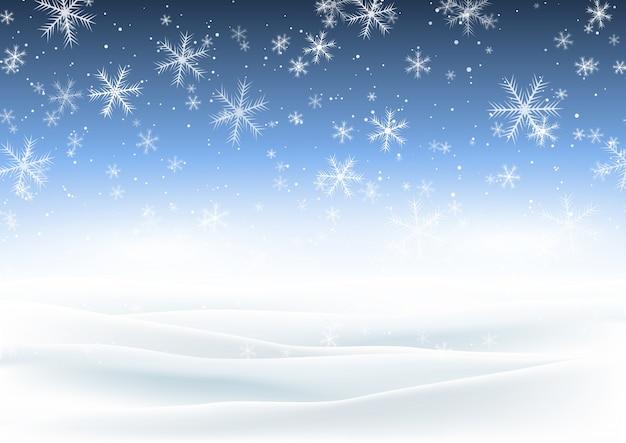 Weihnachten verschneite landschaft