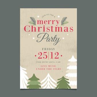 Weihnachten vintage party plakat vorlage