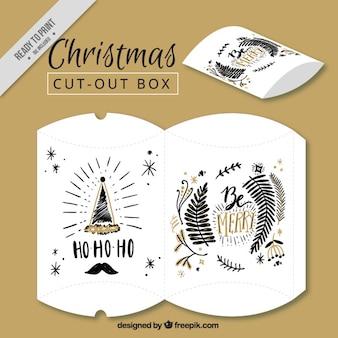 Weihnachten weinlesekasten mit zeichnungen