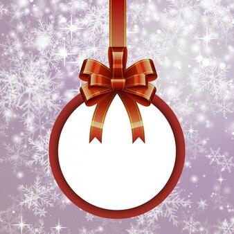 Weihnachten weißen leeren kugel mit bogen