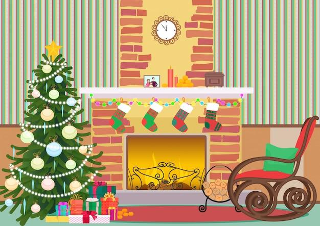 Weihnachten wohnzimmer interieur