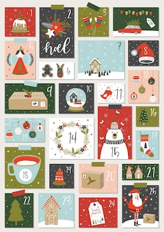 Weihnachts-adventskalender.