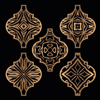 Weihnachts-arabesken-fliesen-ornament-set
