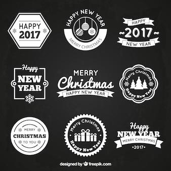 Weihnachts badges set