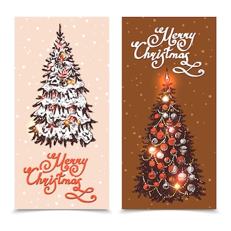Weihnachts-banner-set