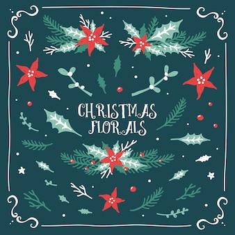 Weihnachts-blumenkollektion