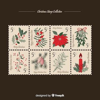 Weihnachts-briefmarkensammlung
