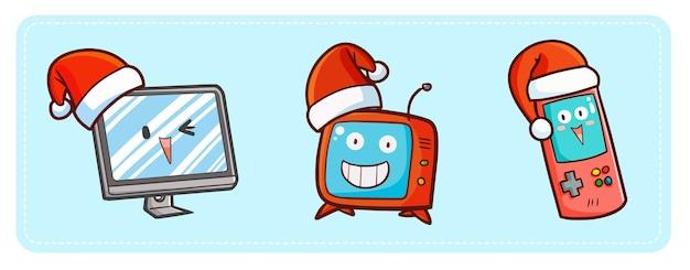 Weihnachts-cartoon-gadgets