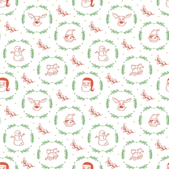 Weihnachts-doodle-hintergrund
