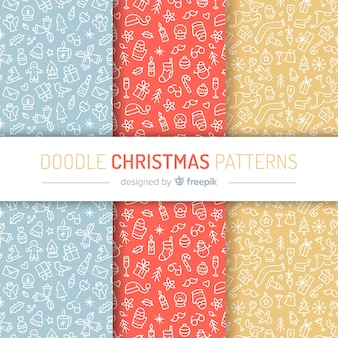 Weihnachts-doodle-muster