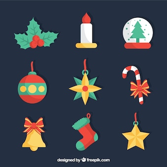 Weihnachts drawn icons collection