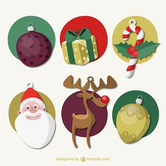 Weihnachts drawn icons set