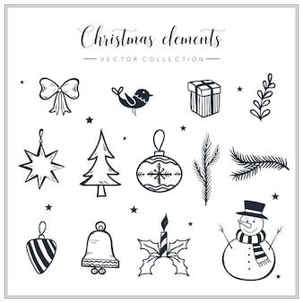 Weihnachts-element-sammlung