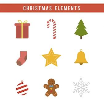 Weihnachts-elemente