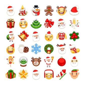 Weihnachts-emojis-set